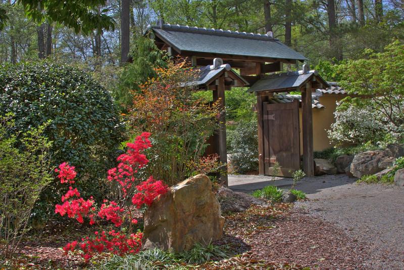 Gate to rock Garden
