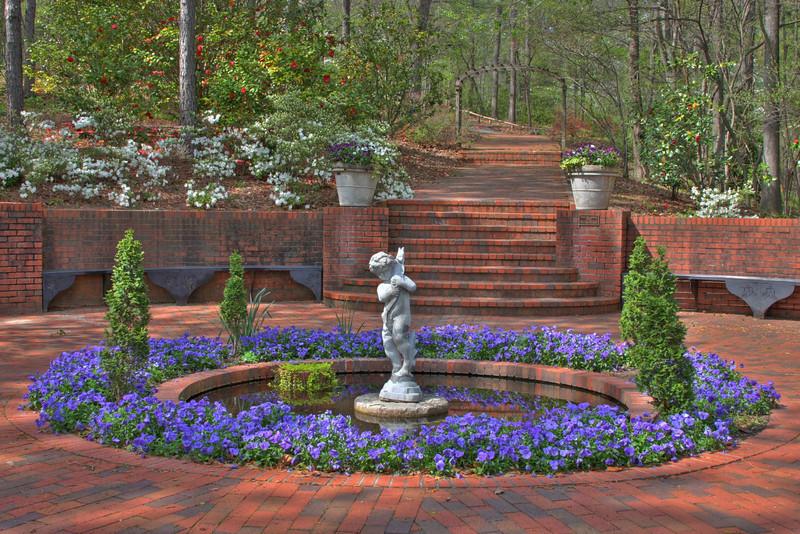 Fountain at Birmingham Botanical Gardens