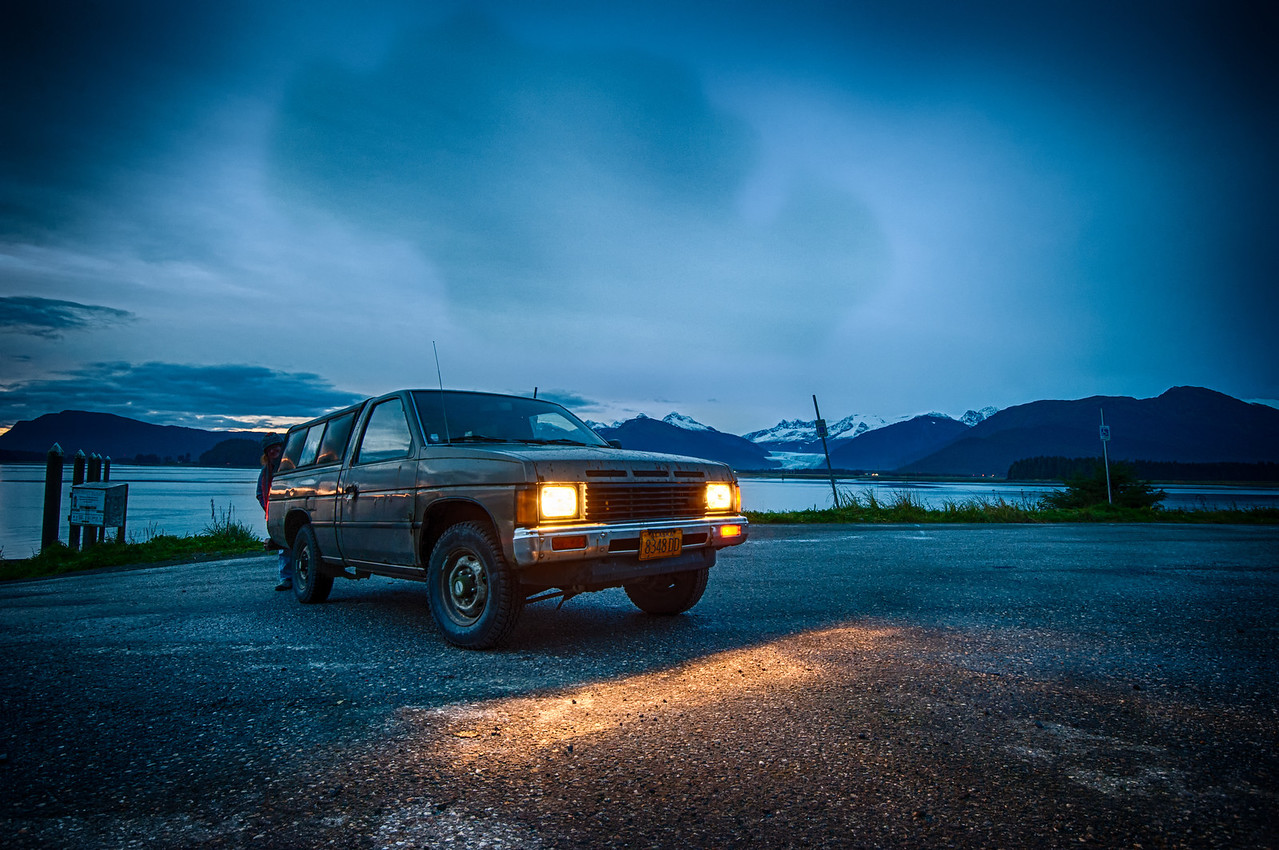A 5 EV HDR Photograph of my wife's beloved truck 'bownie'  from the North end of Douglas Island Alaska, near Juneau Alaska.  Taken with a Nikon d700, edited in HDR Efex Pro & Lightroom.