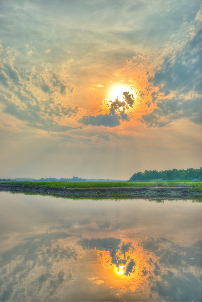 First HDR image using software.<br /> Sunset near Lewes, Delaware.