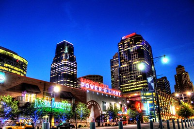 Power and Light District in Kansas City, MO.