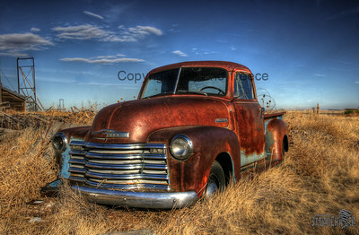 Old Chevy Pick Up Truck near Akron, CO.