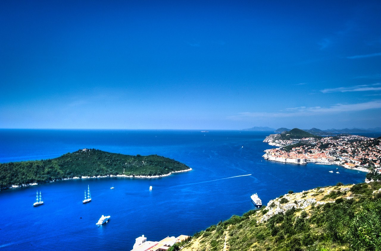 A 7 EV HDR Photograph of Dubrovnik Croatia where the Adriatic & Mediterranean Seas meet.  Taken with a Nikon d700, edited in Photomatix & Lightroom.