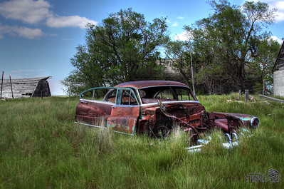 an old classic rusts away in Weld County, CO.