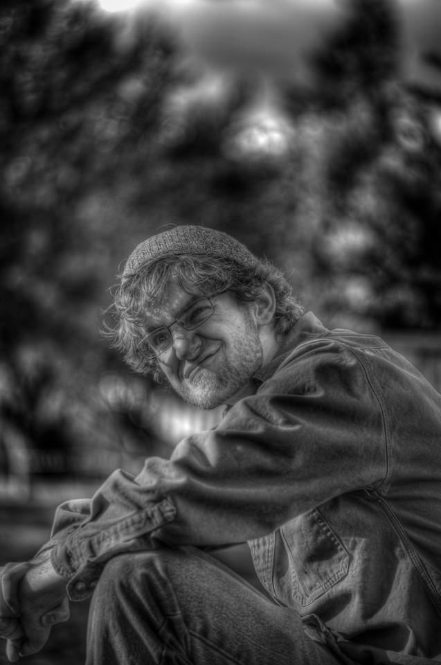 A 3 EV HDR Photograph of Brother Ed.  Taken with a Nikon d700, edited in Photomatix & Lightroom.
