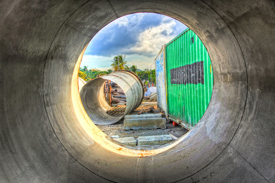 HDR photo taken at Panama's Subway Construction Site