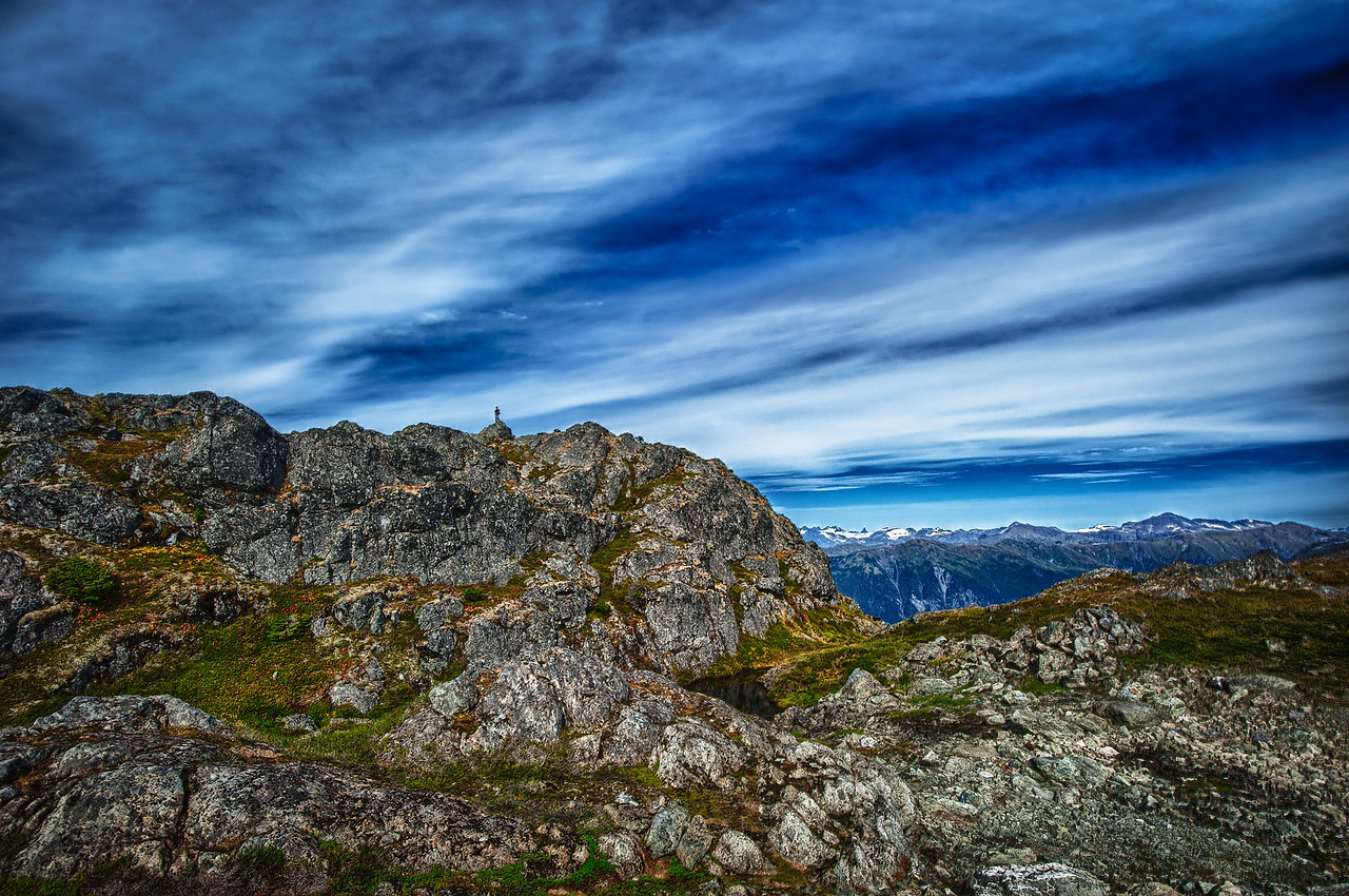 A 5 EV HDR Photograph taken near the top of Mt. Jumbo on Douglas Island Alaska, near Juneau Alaska.  Taken with a Nikon d700, edited in HDR Efex Pro & Lightroom.