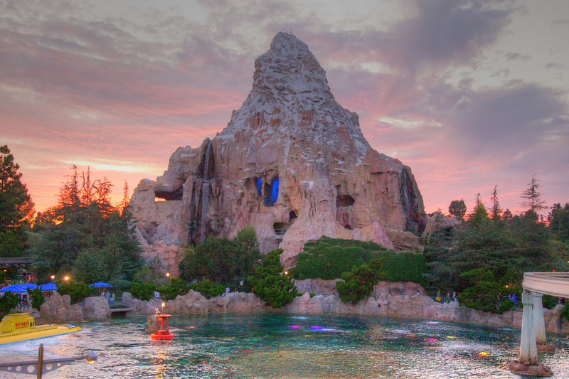 HDR image of the Matterhorn at Disneyland California