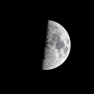 Moon from outside my apartment in south Huntsville, AL.