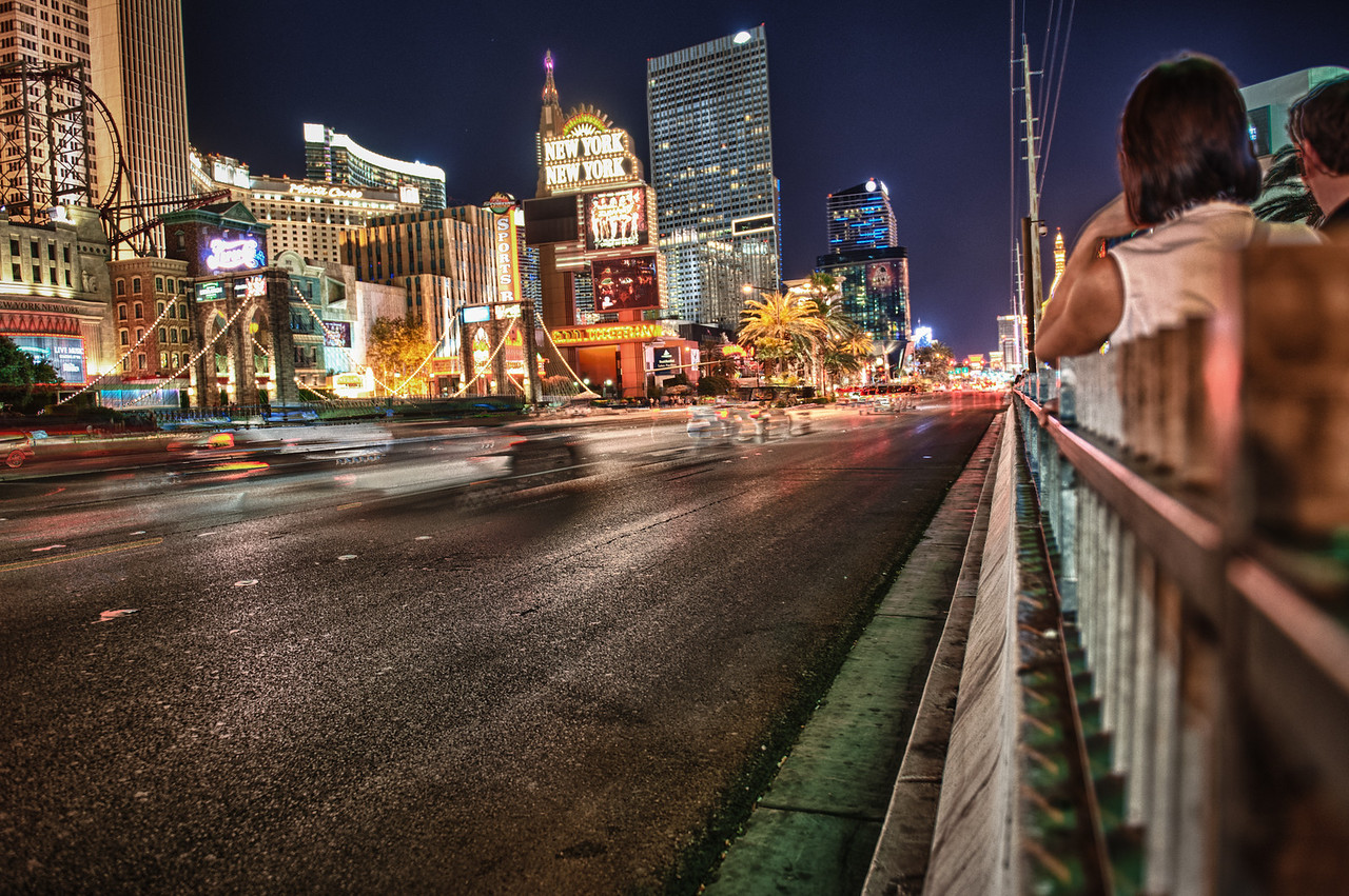 A 5 EV HDR Photograph of Las Vegas Nevada.  Taken with a Nikon d700, edited in HDR Efex Pro & Lightroom.