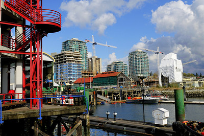 Lonsdale Quay outlook on North Vancouver waterfront construction