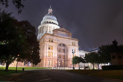 An HDR of the Texas Capitol taken during one of the few times we actually have fog...   This was shot at ISO 100 / F11 bracketed at +-3. I used my 17-55mm 2.8 IS EF-S lens for this one...  I looked very official out there! People kept asking me if they were allowed on the grounds.. hahaha