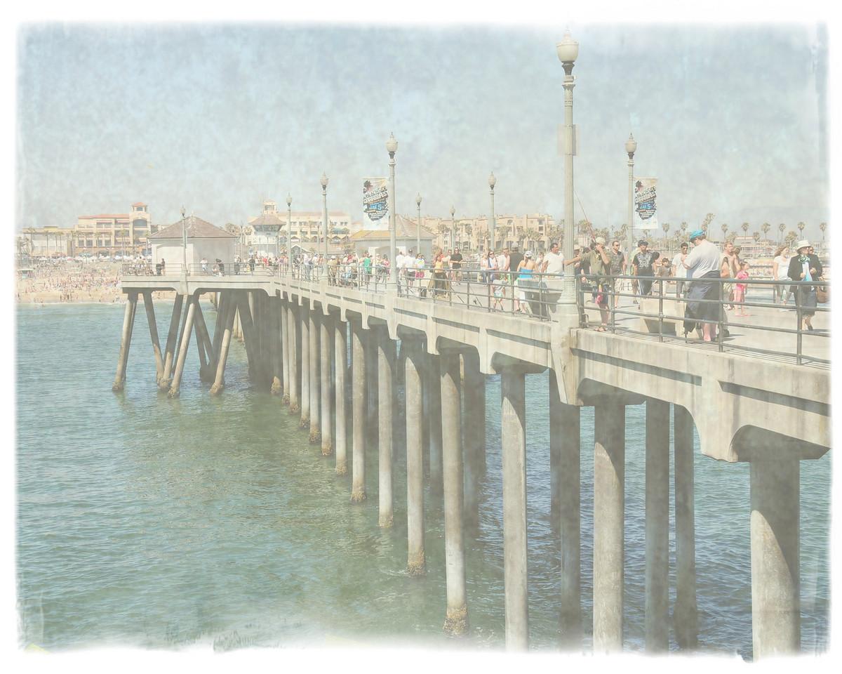 HUNTINGTON BEACH PIER_-0LD PAPER