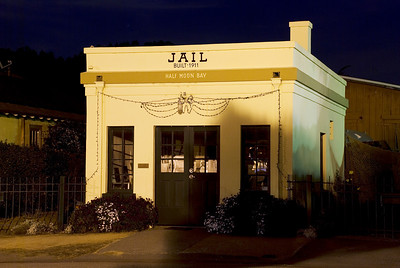 Half Moon Bay After Dark. Jail built in 1911