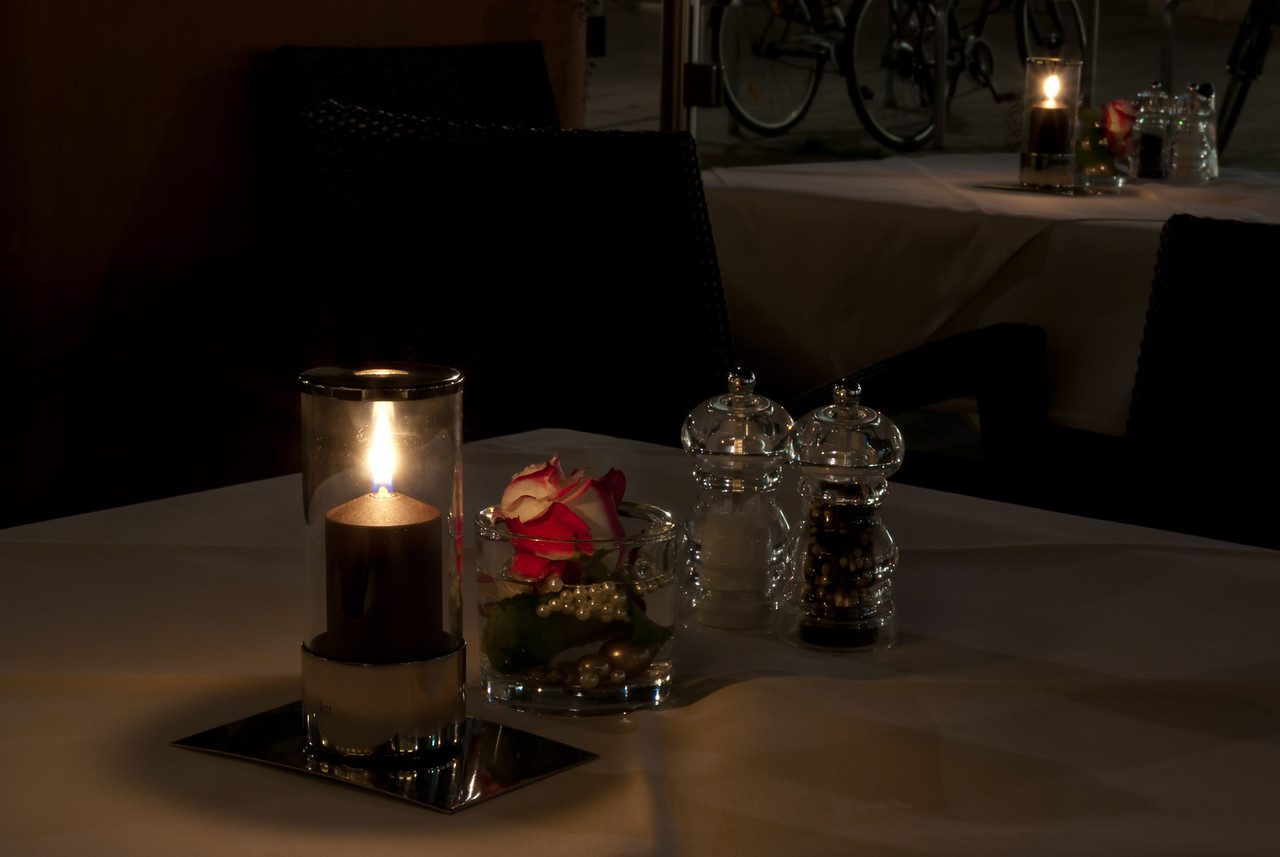 Romantik bei Kerzenschein