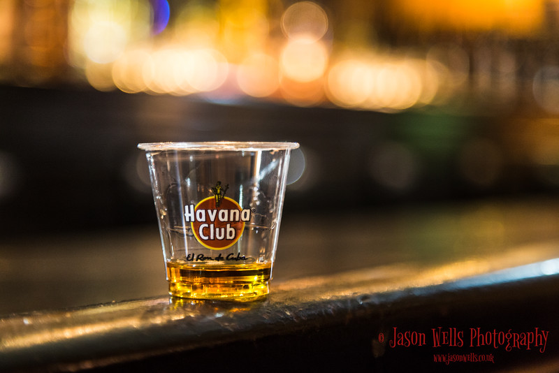 Havana Club rum on a bar