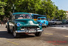 Old cars roaming the streets of Havana.