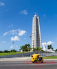 Cocotaxi travels by the Jose Marti memorial