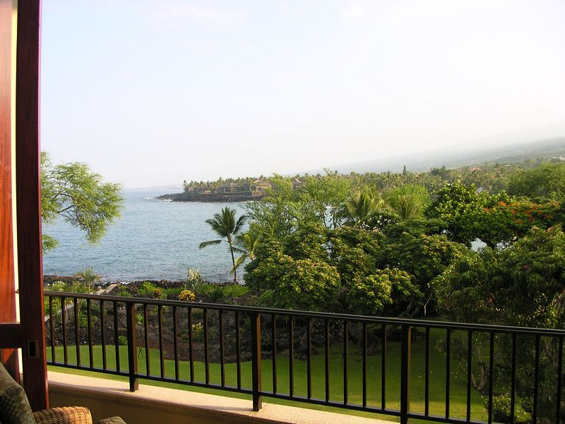 Entrance of Keauhou Bay from the Sheraton Keauhou lobby. Both the bay and the hotel are really pretty.