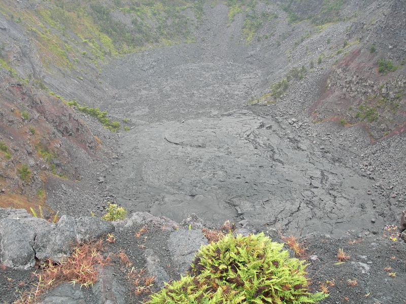 Another of the several craters that surround the Kilauea caldera along Crater Rim Drive.
