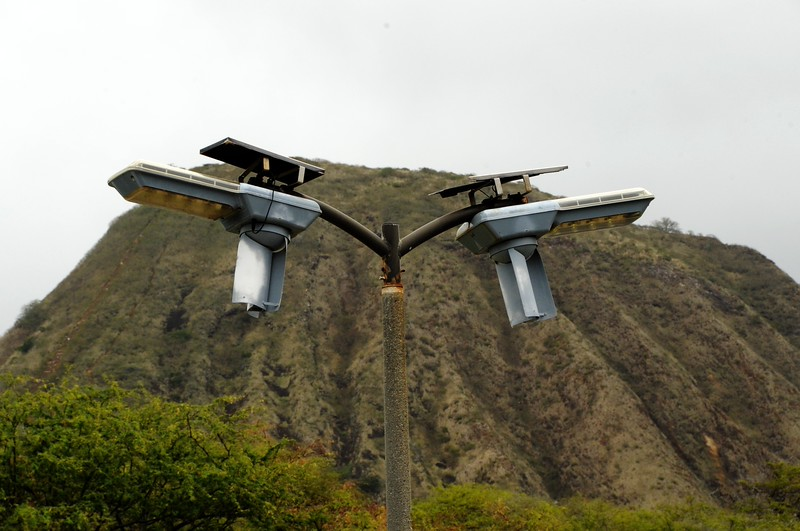 SOLAR AND WIND POWERED LIGHTS