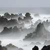 Keanea Peninsula in foggy mist, Maui
