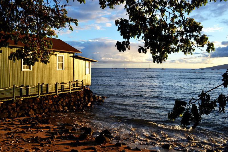 Lahaina at dusk in Maui Hawaii