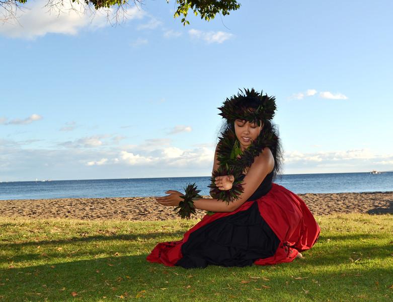 Hula Dancer in Maui Hawaii