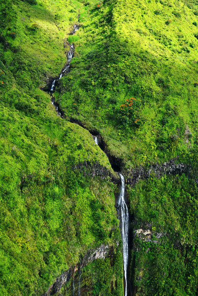 Aerial Photo of Waterfalls in Maui 2