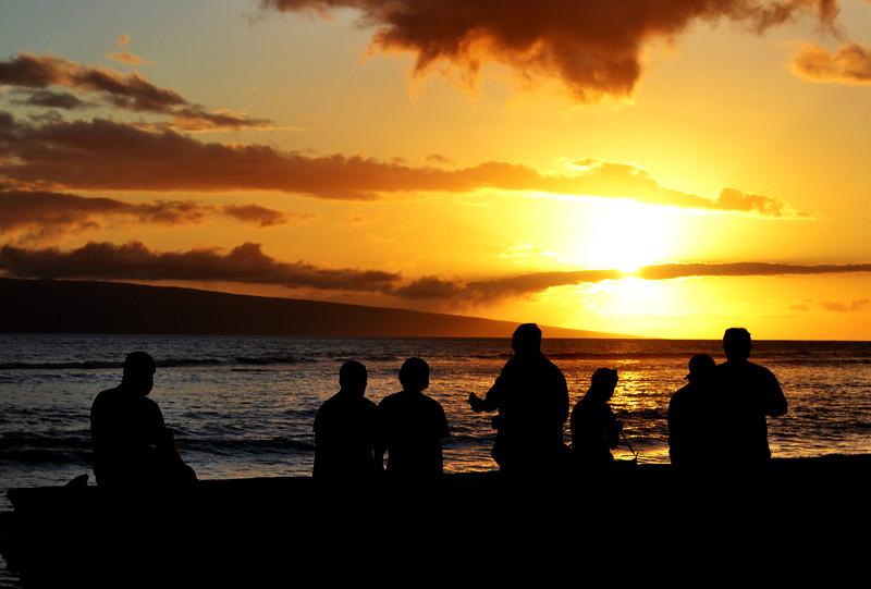Sunset in Maui in Hawaii 50