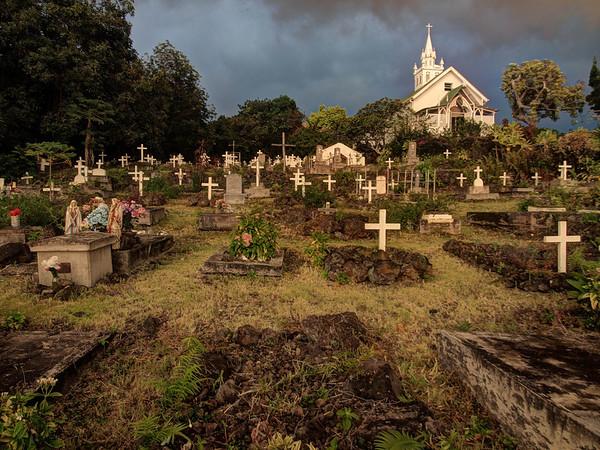 Graveyard - Painted Church - Big Island - Hawaii - September 2012