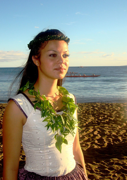Pretty Hawaiian Girl