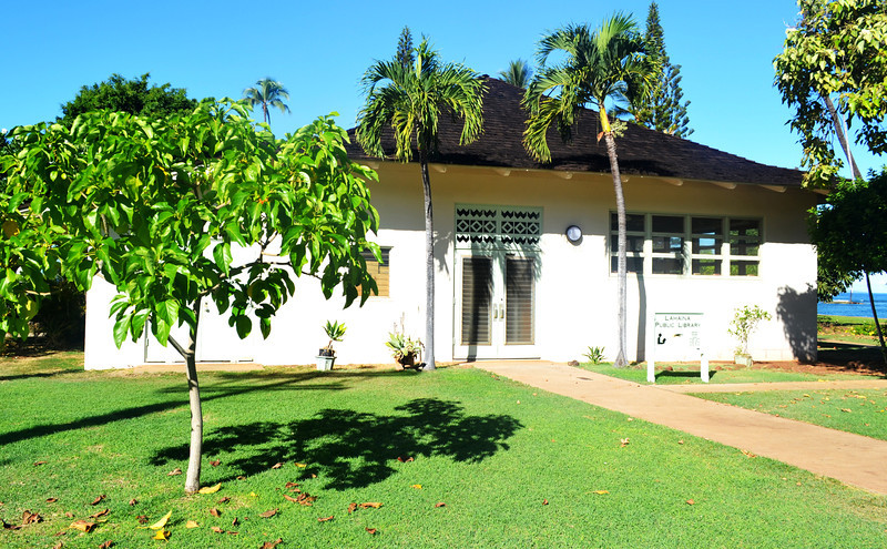 Public Library in Lahaina in Maui Hawaii