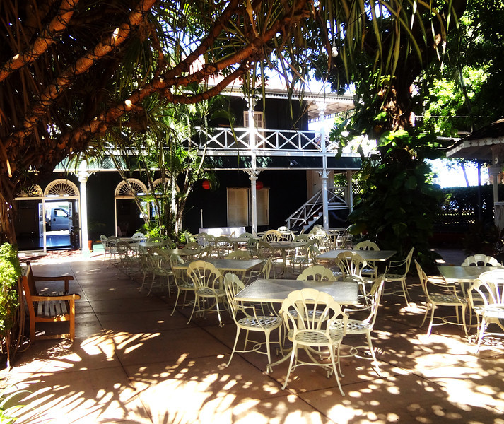 Courtyard at Pioneer Inn in Lahaina in Maui Hawaii