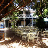 Courtyard at Pioneer Inn in Lahaina in Maui Hawaii