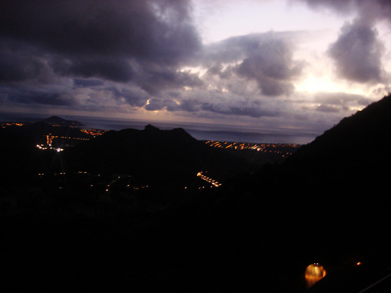 Morning Vista from Pali Point   Tunnel in right corner