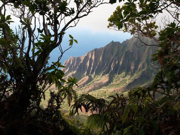 View of the Napali Coast - Kauai - June 2008