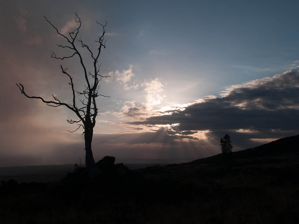 Sunset - Volcano National Park - December 2006 - Big Island Hawaii