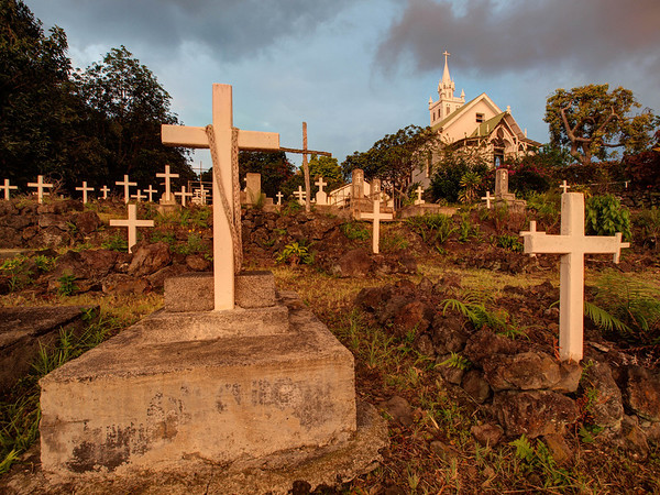 Graveyard - Painted Church - Big Island - Hawaii - September 2012