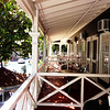 Balconies at the Pioneer Inn in Lahaina Maui Hawaii