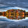 Etra Park Lake Fall Foliage HDR