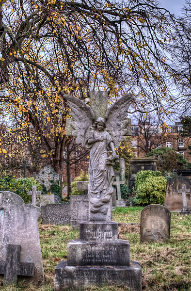Brompton Cemetery HDR grave stone photo