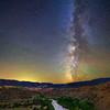 Milky way over Rio Chama