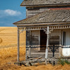 The Getaway, Sagging and tilting the old abandoned Weber farmhouse is much beloved by photographers. The original cabin was built in 1876 and then expanded upon in 1890 into a home.