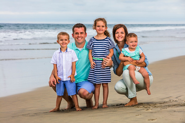 Family Photos on the Beach, Carlsbad, California