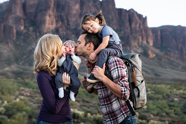 Family Portrait at the Superstition Mountains