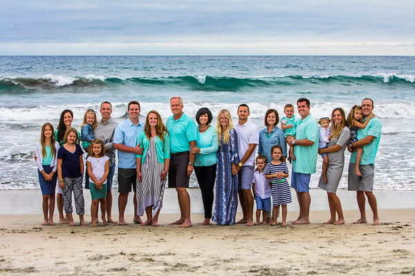 Family Photo at Carlsbad, California