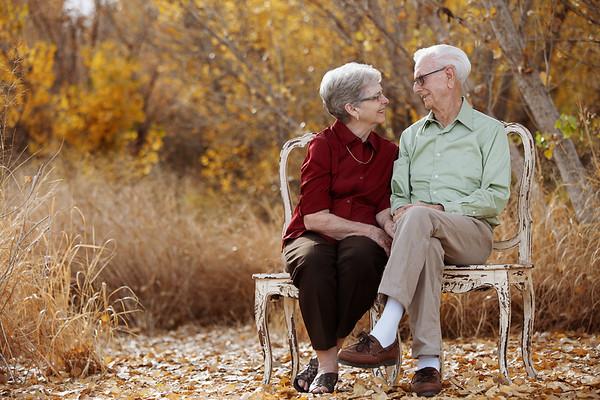 Fall colors make for beautiful family portrait. Gilbert, AZ