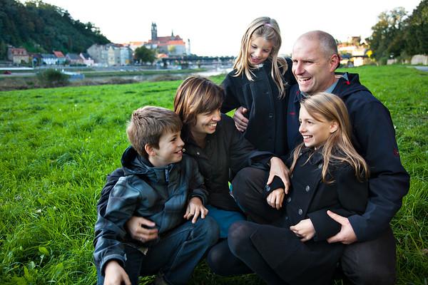 German Family, Elbe River, Meisssen