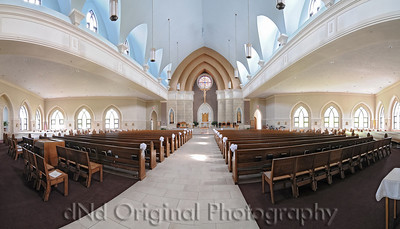 Church In Washinton Missouri Pano 2 About 170 degrees, 4 pictures, merged into a panoramic via Photoshop CS3 using it's PhotoMerge with Auto setting. Not HDR. Just shot it normal to compare to Pano 1